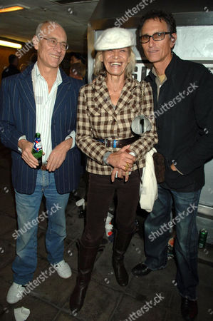 John Dunbar with Anita Pallenberg and guest