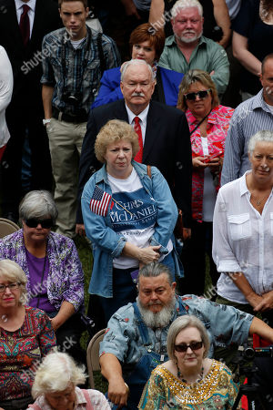 Sandra Inman Sandra Inman of Jackson, center, wears a old state senate campaign t-shirt in support of second-term state Sen. Chris McDaniel, R-Ellisville, as he announces his candidacy for the U.S. Senate in 2014, during a rally at the Jones County Courthouse in Ellisville, Miss., . His decision to run will likely pit him against longtime incumbent Republican U.S. Sen. Thad Cochran in the Republican primary