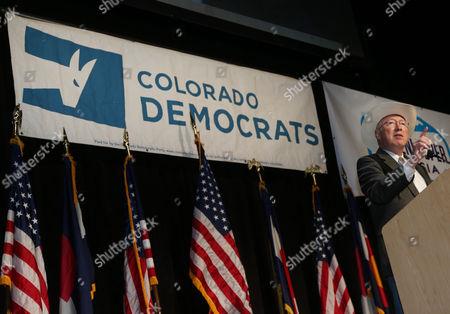 Ken Salazar Former U.S. Interior Secretary Ken Salazar, a native of Colorado's San Luis Valley, speaks during the Colorado Democratic Party's State Assembly in Denver on