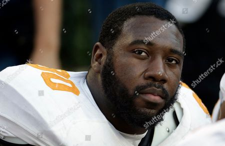 Stock Photo of Tennessee defensive lineman Corey Miller (80) watches from the sidelines during the second half of an NCAA college football game against Alabama in Tuscaloosa, Ala