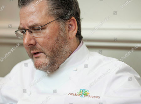 Charlie Trotter Award-winning chef Charlie Trotter is seen during an interview with The Associated Press at his restaurant in Chicago. On, a memorial service is being held in Chicago for Trotter who died Tuesday, Nov. 5, at a Chicago hospital after paramedics found him unresponsive at his home. He was 54