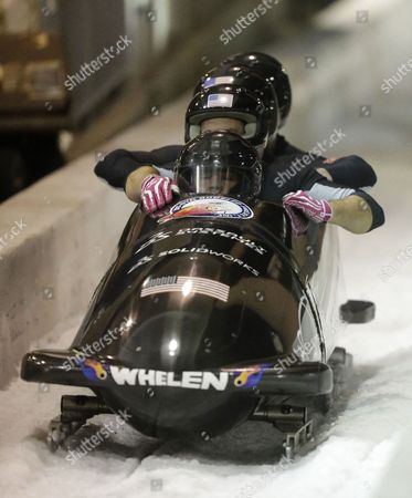 Steve Holcomb, Curt Tomasevicz, Steve Langton, Chris Fogt From front to back, Steve Holcomb, Curt Tomasevicz, Steve Langton and Chris Fogt come to a stop after racing in the United States four-man bobsled team trials, in Park City, Utah. Holcomb and his crew came in first place