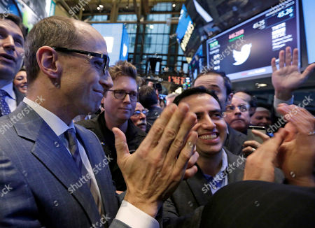 Dick Costolo, Biz Stone, Amir Movafaghi Twitter CEO Dick Costolo, left, co-founder Biz Stone, center, and Amir Movafaghi, right, Twitter's Director of Treasury and Strategic Finance, applaud as shares begin trading in their IPO, on the floor of the New York Stock Exchange, . If Twitter's bankers and executives were hoping for a surge on the day of the stock's public debut, they got it. The stock opened at $45.10 a share on its first day of trading, 73 percent above its initial offering price