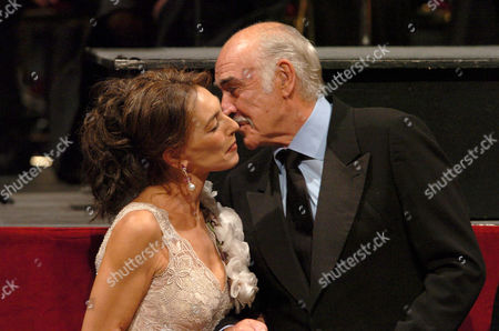 Maria Rosaria Omaggio and Sean Connery