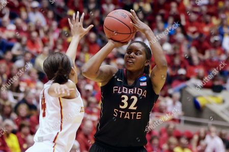Nikki Moody, Lauren Coleman Florida State's Lauren Coleman (32) shoots against Iowa State's Nikki Moody (4) in the second half of a first-round game in the NCAA women's college basketball tournament in Ames, Iowa
