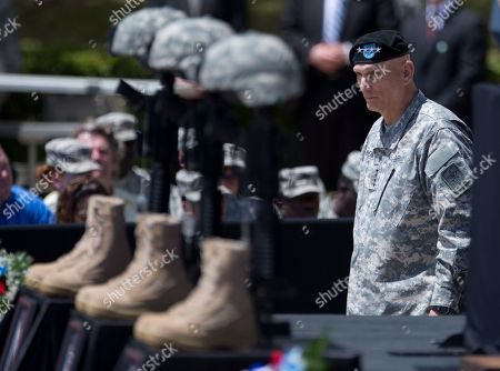 Raymond Odierno Chief of Staff of the Army General Raymond Odierno arrives for a memorial ceremony, in Fort Hood Texas, for those killed there in a shooting last week
