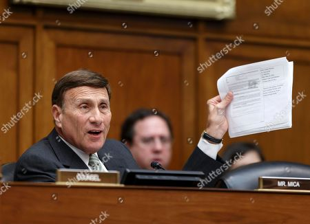 John Mica House Oversight Committee member Rep. John Mica, R-Fla. waves a copy of an emailed document addressed to IRS official Lois Lerner as he joined with committee Chairman Rep. Darrell Issa, R-Calif., in demanding that Internal Revenue Service Commissioner John Koskinen provide all of Lerner's emails as the panel's GOP majority continues the probe of whether tea party groups were improperly targeted for increased scrutiny by the IRS, on Capitol Hill in Washington