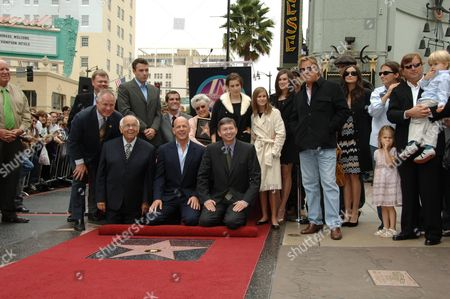 Johnny Grant (3rd l), guest, Ben Affleck, Bruce Willis, Marlene Willis, Scout Larue Willis, guest, Tallulah Belle Willis, Rumer Willis, Don Johnson and Demi Moore