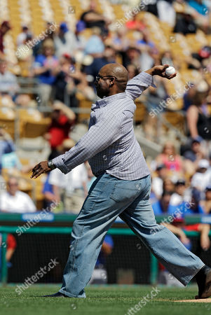 Bo Jackson Former Chicago White Sox player Bo Jackson throws a ceremonial pitch before a spring exhibition baseball game between the Chicago Cubs and White Sox, in Glendale, Ariz