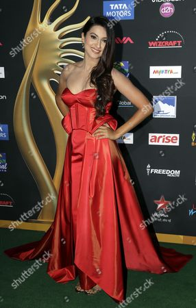 Stock Photo of Gauhar Khan Indian actess and model Gauhar Khan poses for photographers as she walks the green carpet for 15th annual International Indian Film Awards, in Tampa, Fla