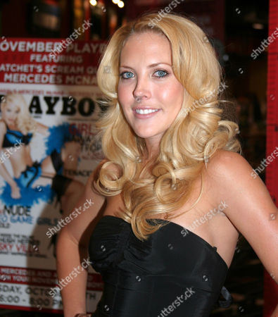 Stock Picture of Mercedes McNab who features in a six page nude pictorial and cover appearance in 'Playboy'