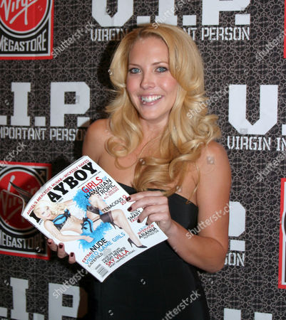 Mercedes McNab who features in a six page nude pictorial and cover appearance in 'Playboy'