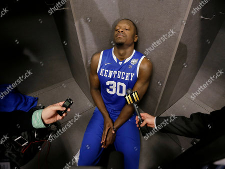 Julius Randle Kentucky forward Julius Randle is interviewed in the locker room after his team's 60-54 loss to Connecticut in the NCAA Final Four tournament college basketball championship game, in Arlington, Texas