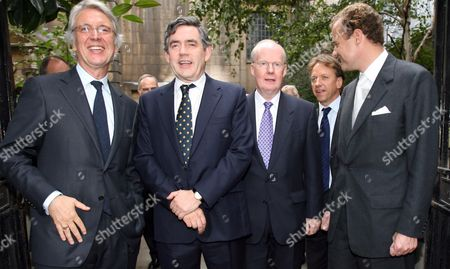 Les Hinton Chairman of News International, Chancellor Gordon Brown, Murdoch MacLennan Chief Executive of The Daily Telegraph and Lord Rothermere.