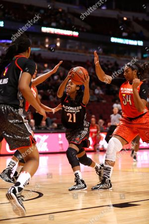 Jordin Canada McDonald's West All American Gabby Green Jordin Canada (21) makes her way to the hoop during the first half of the McDonald's All-American girls' basketball game, in Chicago