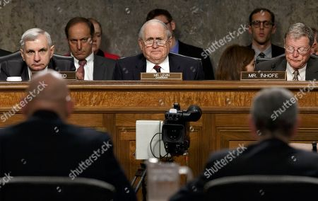 John M. McHugh, Raymond Odierno, Carl Levin, James Inhofe From left, Sen. Jack Reed, D-R.I., Senate Armed Services Committee Chairman Sen. Carl Levin, D-Mich., and the committee's ranking member, Sen. James Inhofe, R-Okla., listen as Army Chief of Staff Gen Raymond Odierno, lower left, and Army Secretary John M. McHugh, update the committee about the deadly shooting rampage by a soldier yesterday at Fort Hood in Texas, on Capitol Hill in Washington. An Iraq War veteran being treated for mental illness was the gunman who opened fire at Fort Hood, killing three people and wounding 16 others before committing suicide, in an attack on the same Texas military base where more than a dozen people were slain in 2009