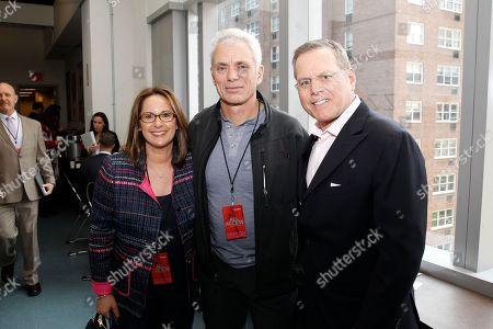 Pam Zaslav, Jeremy Wade, David Zaslav As seen at the Discovery Communications 2014 Upfront Presentation