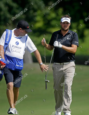 Jeff Overton Jeff Overton walks with his caddy on the 11th fairway during the opening round of the PGA Zurich Classic golf tournament at TPC Louisiana in Avondale, La