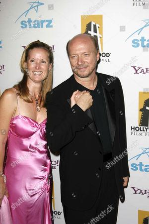 Stock Photo of Paul Haggis and wife Deborah Rennard