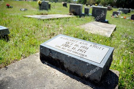The grave of civil rights protester Margaret Ann Knott is shown in a cemetery near Lisman, Ala., on . Knott was struck by a car and killed during a sit-in in nearby Butler, Ala., in 1971, but no one ever was prosecuted. Her mother, Carrie Johnson, says she has mercy for the driver of the car, Gladden Smith, and does not hold him responsible