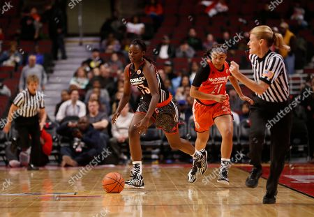 Gabby Green McDonald's West All American Gabby Green (33) drives the ball during the first half of the McDonald's All-American girls' basketball game, in Chicago
