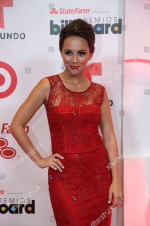 Maria Elisa Camargo Actress Maria Elisa Camargo poses at the Latin Billboard Awards in Coral Gables, Fla