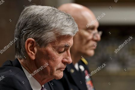 John M. McHugh, Raymond Odierno Army Secretary John M. McHugh, left, accompanied by Army Chief of Staff Gen Raymond Odierno, pauses on Capitol Hill in Washington, as they updated members of the Senate Armed Services Committee about the deadly shooting rampage by a soldier yesterday at Fort Hood in Texas. An Iraq War veteran being treated for mental illness was the gunman who opened fire at Fort Hood, killing three people and wounding 16 others before committing suicide, in an attack on the same Texas military base where more than a dozen people were slain in 2009