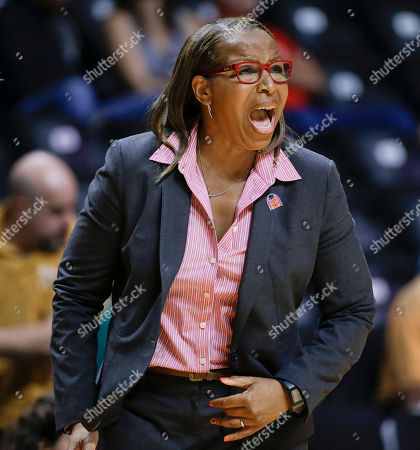Cynthia Cooper-Dyke Southern California coach Cynthia Cooper-Dyke yells to her team in the second half of an NCAA women's college basketball first-round tournament game against St. John's, in Knoxville, Tenn. St. John's won 71-68