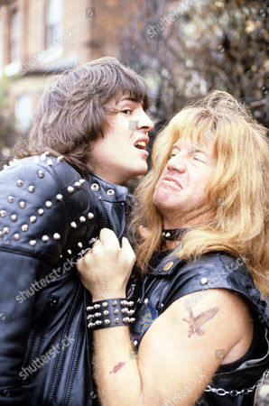 Neil Morrissey and Robin Askwith in 'Boon' - 1988
