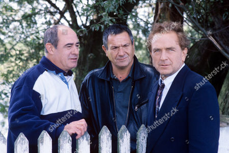 David Daker, Michael Elphick and Paul Freeman in 'Boon' - 1992