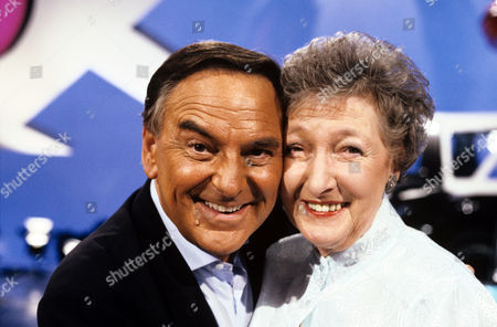Stock Photo of Bob Monkhouse and Pat Coombs on 'Celebrity Squares' - 1993 - 94