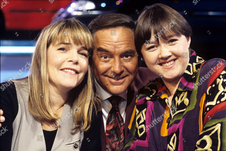 Linda Robson, Pauline Quirke and Bob Monkhouse on 'Celebrity Sqyares' - 1993 - 94