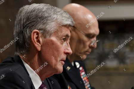 John M. McHugh, Raymond Odierno Army Secretary John M. McHugh, left, accompanied by Army Chief of Staff Gen Raymond Odierno, speaks on Capitol Hill in Washington, as they updated members of the Senate Armed Services Committee about the deadly shooting rampage by a soldier yesterday at Fort Hood in Texas. An Iraq War veteran being treated for mental illness was the gunman who opened fire at Fort Hood, killing three people and wounding 16 others before committing suicide, in an attack on the same Texas military base where more than a dozen people were slain in 2009