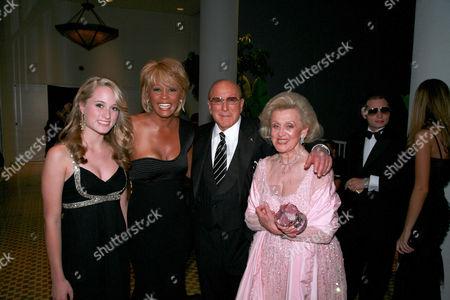 Stock Image of Whitney Davis, Whitney Houston, Clive Davis and Barbara Davis