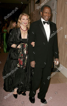 Sidney Poitier and wife Joanna Shimkus