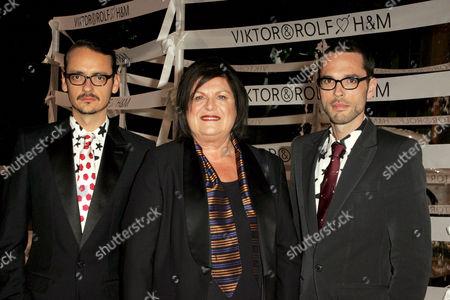 Viktor Horsting with Margareta Van Den Bosch and Rolf Snoeren