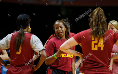 Cynthia Cooper Southern California head coach Cynthia Cooper talks to her players during practice for an NCAA women's college basketball game, in Knoxville, Tenn. Southern California will play St. John's in a first-round game Saturday