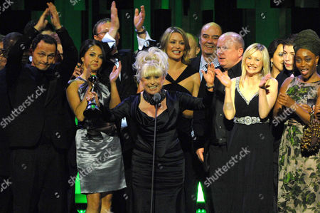 Cast of 'Eastenders including Perry Fenwick, Lacey Turner, Ricky Groves, Barbara Windsor, Laurie Brett, Dave Hill, Steve McFadden and Angela Wynter