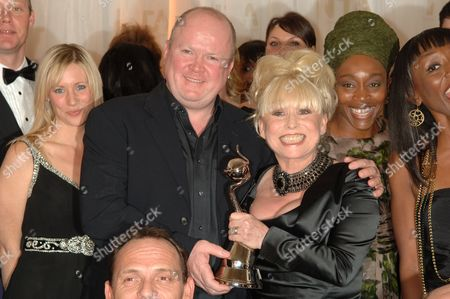 Steve McFadden, Barbara Windsor and Angela Wynter - winners of the Most Popular drama award for Eastenders