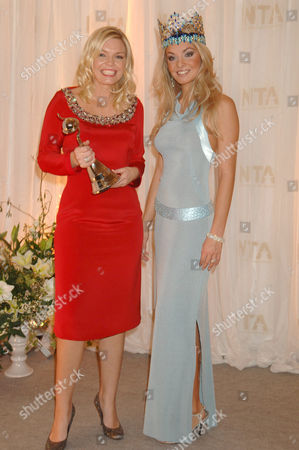 Kate Thornton - winner of Most Popular Entertainment Programme for The X Factor, with Tatana Kucharova