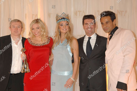 Louis Walsh, Kate Thornton, Tatana Kucharova and Simon Cowell and Chico Slimani
