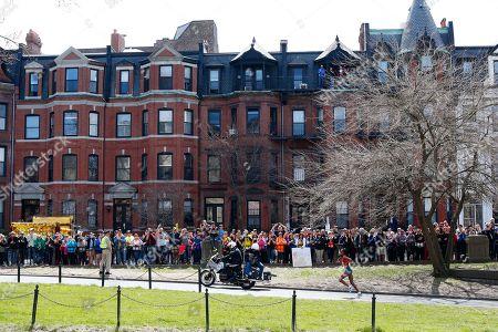 Rita Jeptoo Rita Jeptoo, of Kenya, runs through the Back Bay neighborhood during the 118th Boston Marathon, in Boston