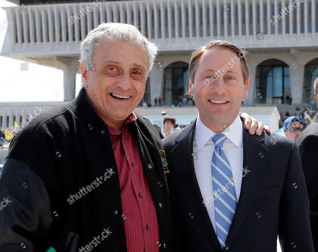 Rob Astorino, Carl Paladino Republican gubernatorial candidate Rob Astorino, right, and the 2010 Republican gubernatorial candidate Carl Paladino,, in Albany, N.Y