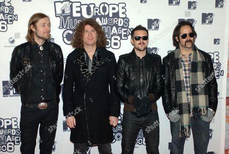 The Killers - Mark Stoermer, David Keuning, Brandon Flowers and Ronnie Vannucci
