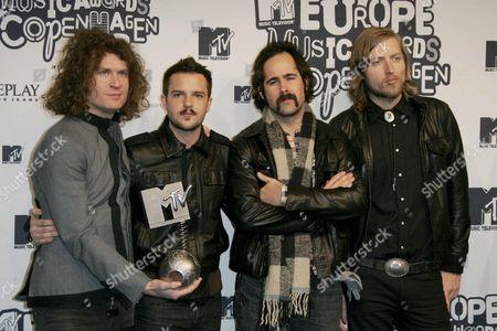 The Killers - David Keuning, Brandon Flowers, Ronnie Vannucci and Mark Stoermer