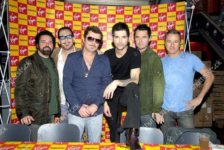 Inxs - Andrew Farriss, Kirk Pengilly, Jon Farriss, J D Fortune, Tim Farriss and Garry Beers