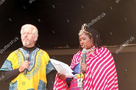 Adam Hart-Davis and Sharon Looremeta, of Practical Action, Kenya