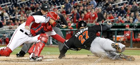 Editorial photo of Marlins Nationals Baseball, Washington, USA