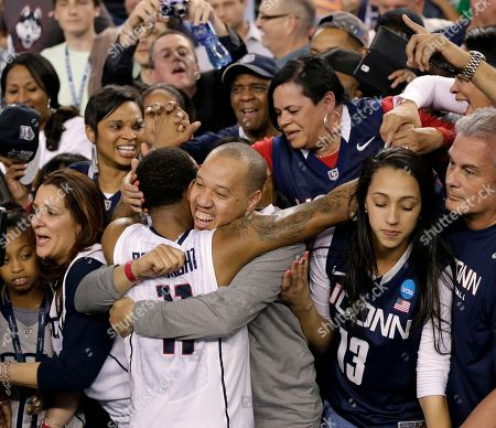 Ryan Boatright Connecticut guard Ryan Boatright (11) celebrates with fans after his team's 60-54 victory over Kentucky in the NCAA Final Four tournament college basketball championship game, in Arlington, Texas