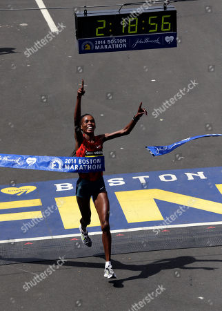 Rita Jeptoo Rita Jeptoo, of Kenya, bereaks the tape to win the women's division of the 118th Boston Marathon in Boston